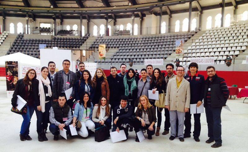 El equipo EPSO al completo que participó en Concurso Nacional de Jóvenes Enólogos Vinouvelle