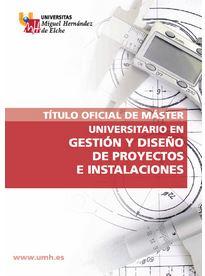 diptico máster gestión y diseño de proyectos e instalaciones